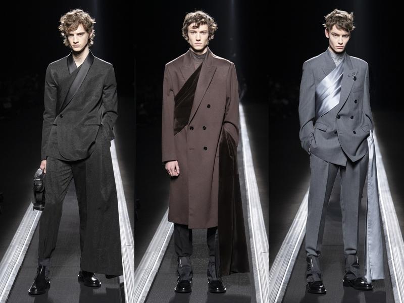 Phong cách phối sash (dải bằng chéo trước ngực) trên các bộ suit tăng phần lịch lãm và sang trọng. Đây cũng là một trong những xu hướng mới được các nhà mốt tích cực lăng xê trong mùa Thu Đông năm nay.