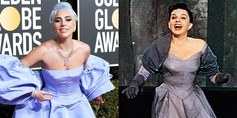"""Nhưng nhiều người tinh ý nhận ra, bộ đầm này khá giống của nữ diễn viên Judy Garland, người cũng đảm nhiệm vai nữ chính trong """"A Star Is Born"""" phiên bản 1954."""