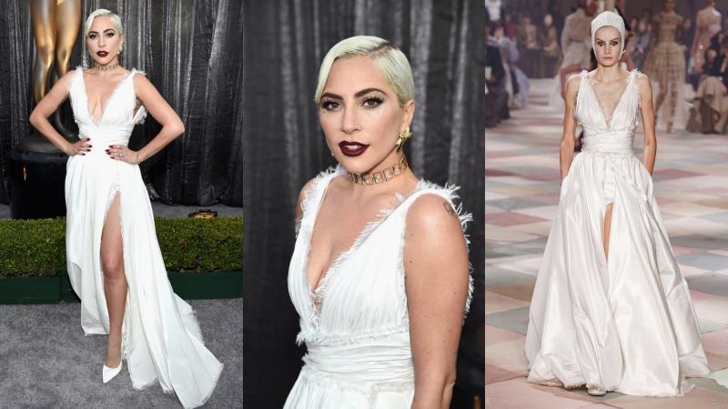 Lady Gaga diện đầm couture của Dior chỉ sau 1 tuần BST được ra mắt