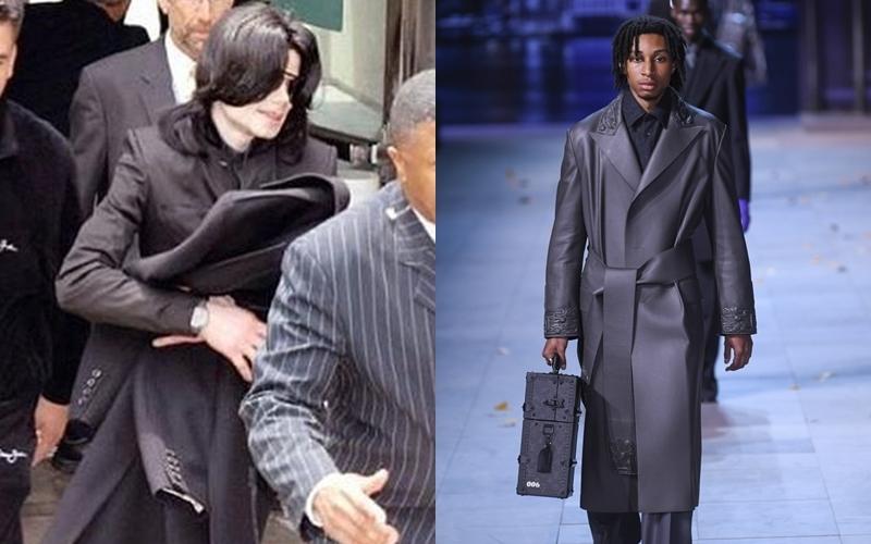 Xuyên suốt BST Thu Đông 2019 của Louis Vuitton là các thiết kế áo khoác phom rộng, dáng dài có tông màu trung tính. Được biết, ý tưởng này được lấy cảm hứng từ phong cách thường ngày của nam danh ca nhạc Pop.