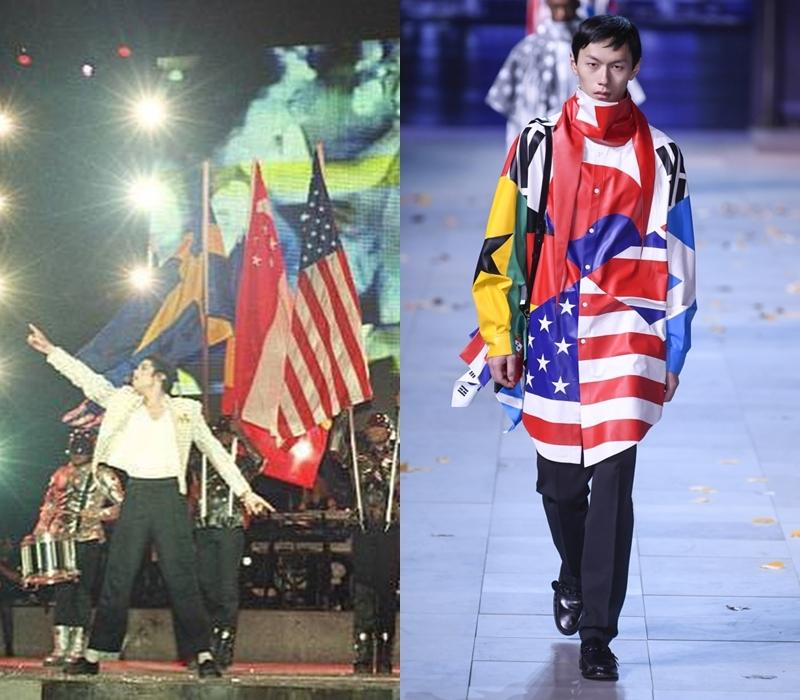 Theo chia sẻ của Virgil Abloh, ông còn đặc biệt tôn vinh những cộng sự đã góp sức làm nên tên tuổi của Michael Jackson, thông qua việc đưa hình ảnh lá cờ theo quốc tịch của những người trong ekip của nam danh ca nhạc Pop này.