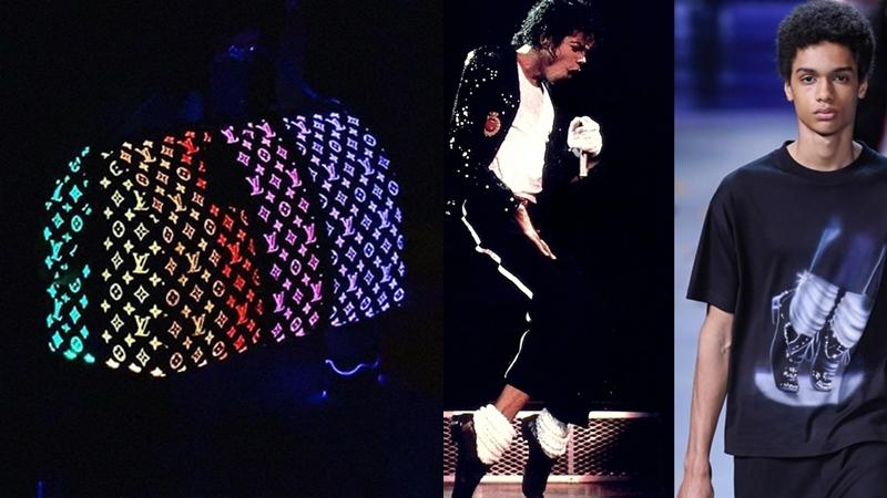 """Phong cách của Michael Jackson """"sống lại"""" trên sàn diễn Louis Vuitton Thu Đông 2019"""