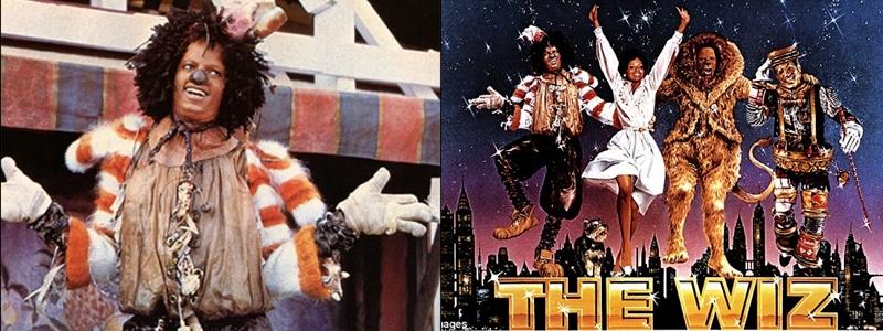 """Không chỉ dừng lại ở việc tái hiện hình ảnh của một ca sĩ, BST Louis Vuitton còn có các thiết kế in hình nhân vật Scarecrow do MJ thủ vai trong bộ phim """"The Wiz"""" (1978) - bản remake của tác phẩm kinh điển """"Phù thủy xứ Oz"""" (""""The Wizard of Oz)."""