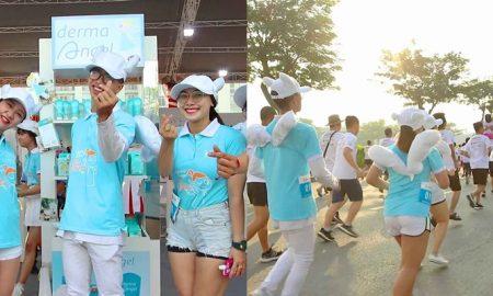 """""""Thiên thần Derma Angel"""" xuất hiện rạng rỡ trên đường đua HCMC Marathon"""