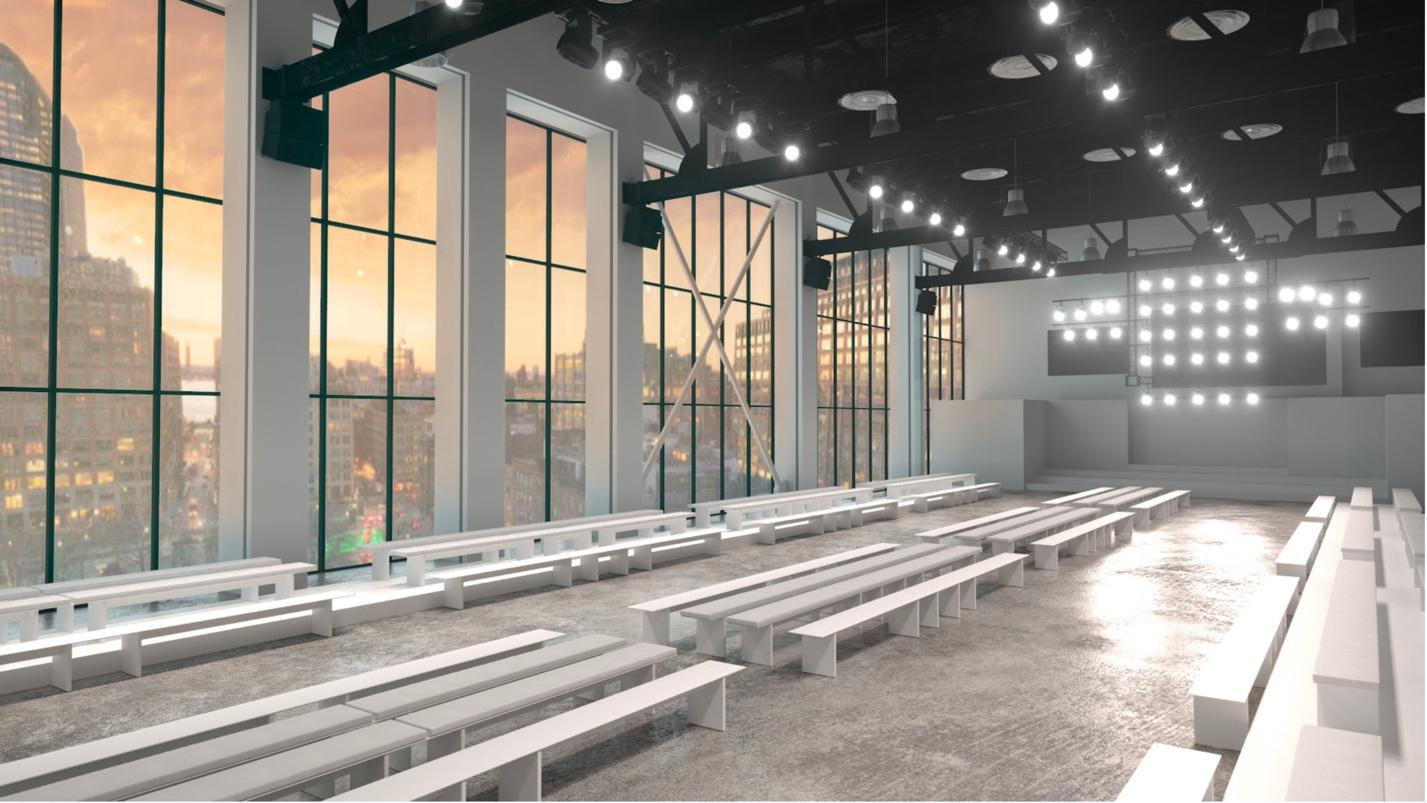 Mô hình sàn catwalk dự kiến cho show diễn của PHUONG MY tại NYFW Thu Đông 2019.