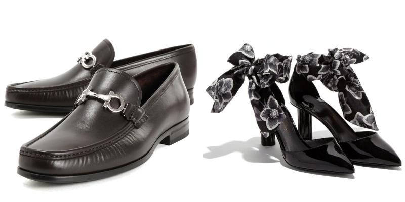 Giày mam Salvatore Ferragamo giá 17.500.000VNĐ giảm còn 10.500.000VNĐ và giày nữ Salvatore Ferragamo giá 21.900.000VNĐ giảm còn 13.140.000VNĐ.