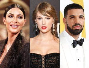 Kim Kardashian – Drake – Taylor Swift: Tam giác thị phi bậc nhất Hollywood