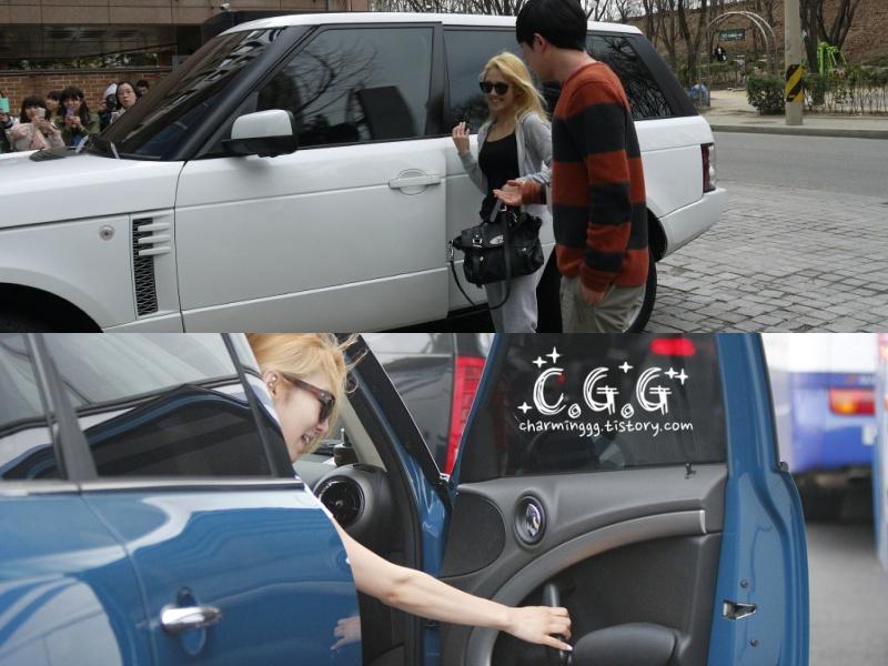 Hai chiếc xe xế hộp thuộc bộ sưu tập siêu xe bạc tỷ của nữ ca sĩ.