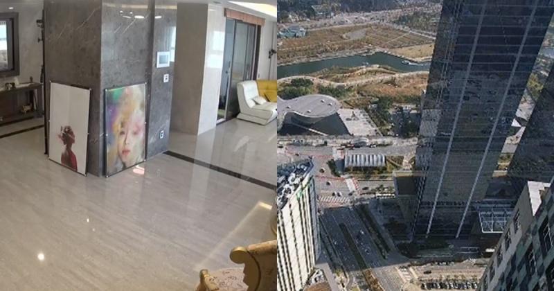 Căn hộ của DJ Hyo nằm trên tầng 60 trong khu phức hợp Prugio.