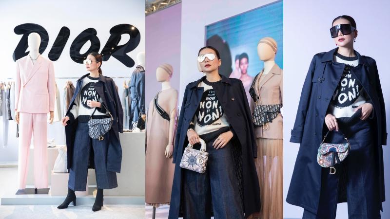 """Thanh Hằng """"sang chảnh"""" trong các thiết kế Dior ở Hong Kong"""