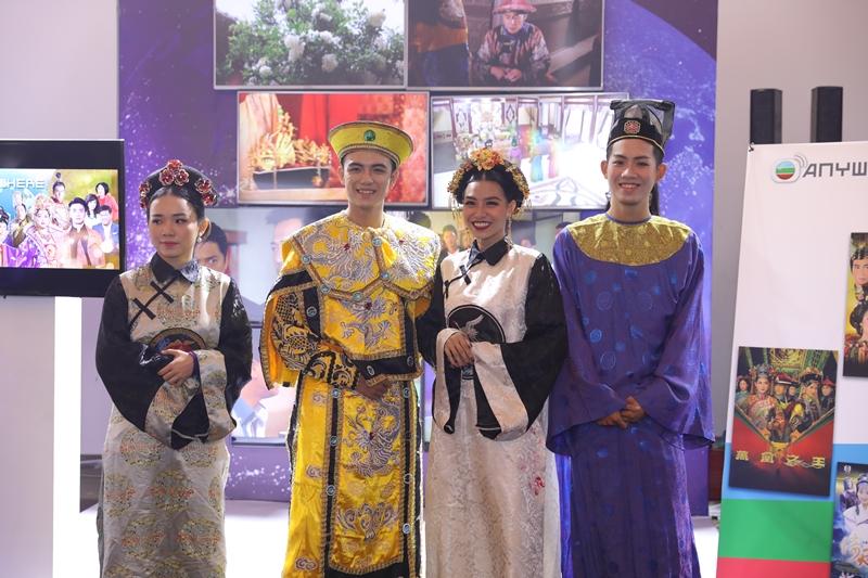 Hoạt động tại booth của TVB