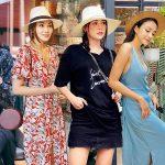 """Street style sao Việt tuần qua: Đầm liền, áo phông và """"cuộc đổ bộ"""" của mũ vành tròn"""