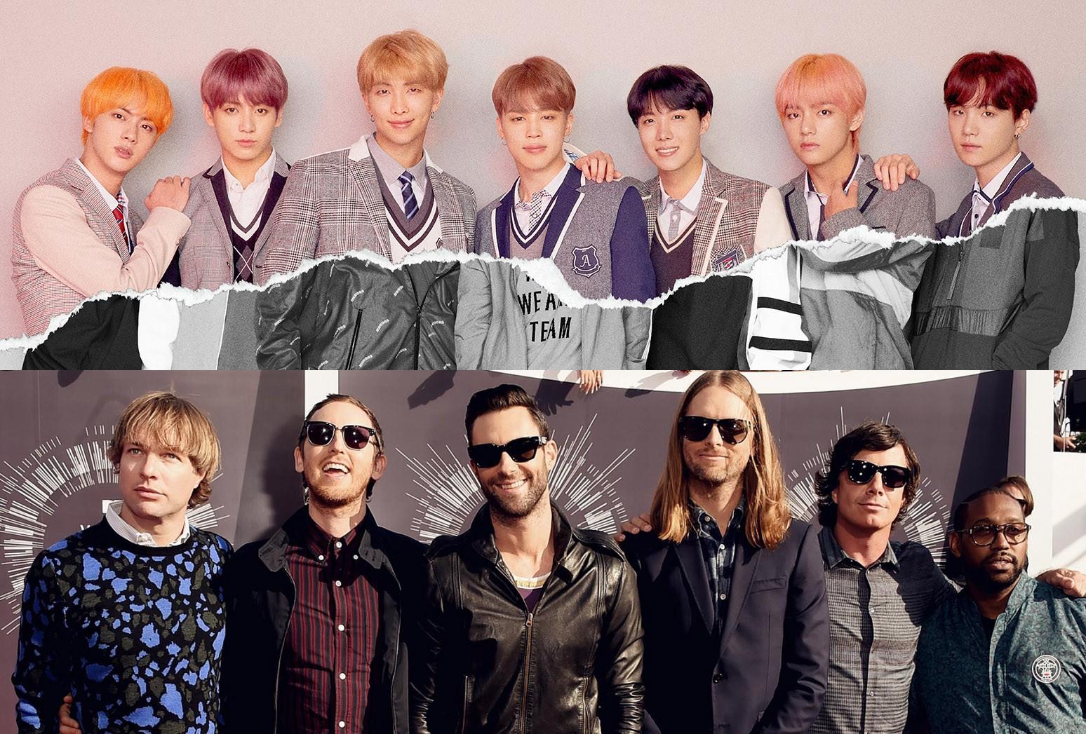 Thành công của BTS trong năm 2018 không hề thua kém Maroon 5.
