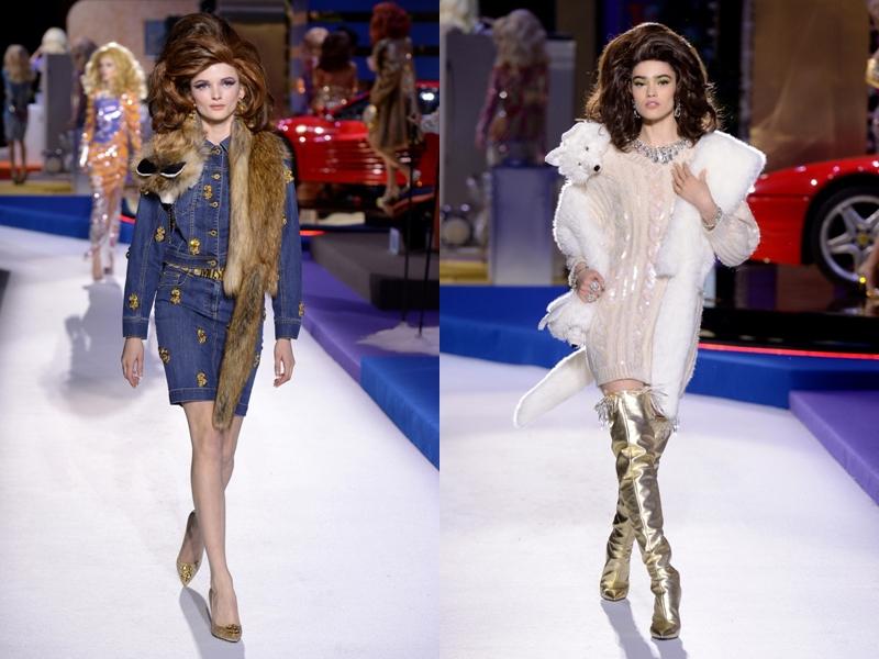"""Kiểu khăn choàng lông chồn không thể phù hợp hơn khi đi cùng mẫu tóc phồng những năm 60, mô phỏng lại """"công thức"""" của các quý cô sành điệu nhiều thập niên trước."""