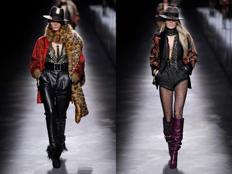 Tất nhiên cũng không thể thiếu sự góp mặt của những món trang phục họa tiết da thú - mốt của mùa Thu Đông.