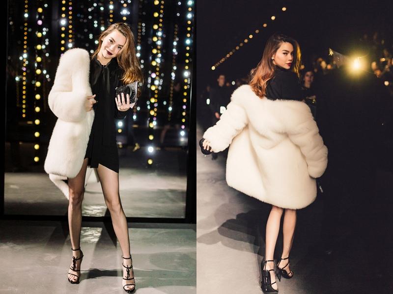 Chỉ tính riêng mẫu áo khoác lông mà nữ ca sĩ đang mặc đã có giá 300 triệu đồng.