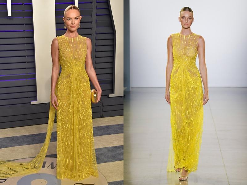 Nét sắc sảo của Kate Bosworth không thua kém gì thần thái của siêu mẫu Caroline Trentini - người đã mở màn cho show diễn của NTK Công Trí tại Tuần lễ Thời trang New York.