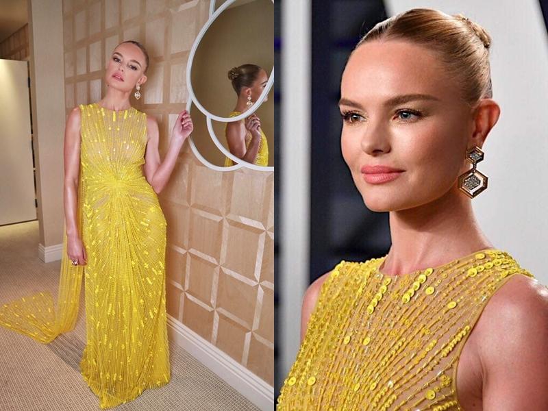 Từ kiểu tóc đến phong cách makeup đều khá giống với nguyên bản, Kate Bosworth được cho là người có bộ váy đẹp nhất trong đêm Oscar Paty 2019.