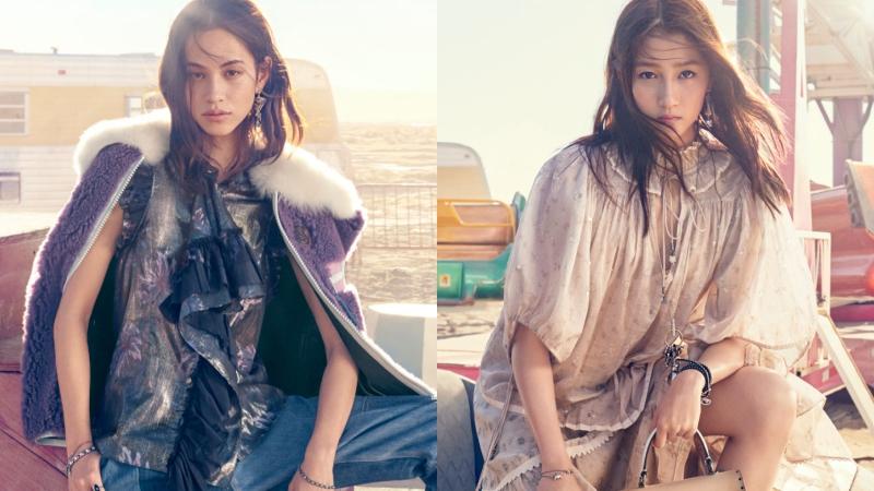 Về miền hoang dã ngắm vẻ đẹp không tì vết của Quan Hiểu Đồng và Kiko Mizuhara trong quảng cáo của Coach