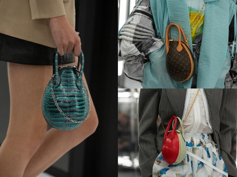 Túi xách hình quả trứng trên sàn diễn Xuân Hè 2019 của Louis Vuitton.