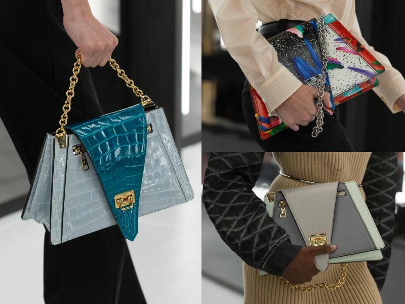 Sở trường của NTK Nicolas Ghesquiere - Giám đốc Nghệ thuật dòng sản phẩm nữ của Louis Vuitton - gắn liền với những thiết kế góc cạnh vô cùng ấn tượng.