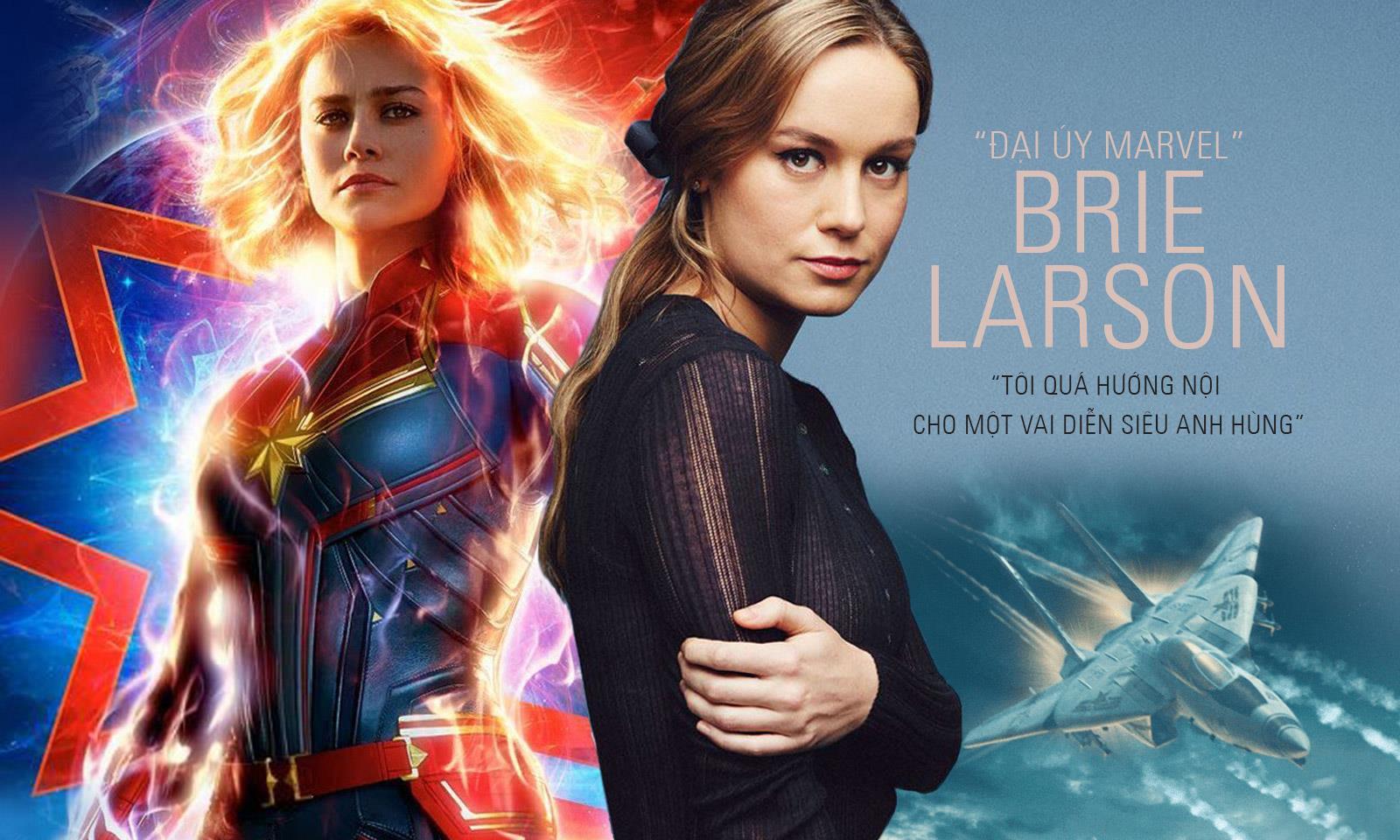 """""""Đại úy Marvel"""" Brie Larson: """"Tôi quá hướng nội cho một vai diễn siêu anh hùng"""""""