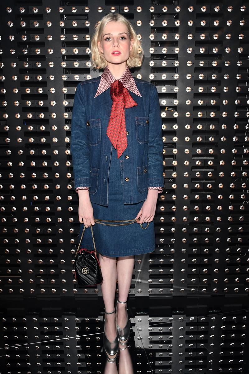 """Nữ chính của """"Bohemian Rhapsody"""" Lucy Boynton cũng là khách mời VIP tại show diễn Thu Đông 2019 của Gucci."""