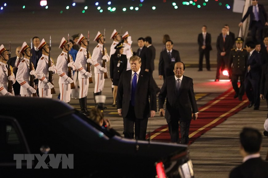 Tổng thống Mỹ Donald Trump đã đến Việt Nam