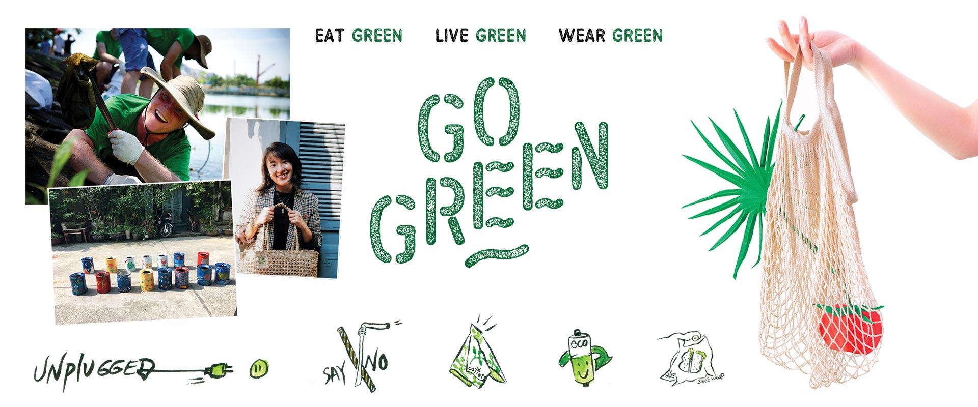"""Go Green: """"Nói không với túi nylon"""" và nỗ lực của người trẻ xây dựng lối sống bền vững"""