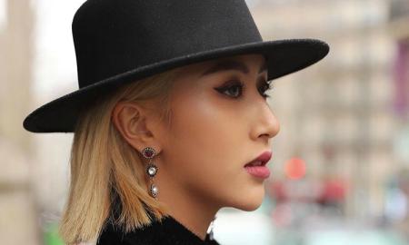 Đầu tư trang phục cầu kỳ dự Paris Fashion Week nhưng Quỳnh Anh Shyn chỉ trung thành với một kiểu trang điểm