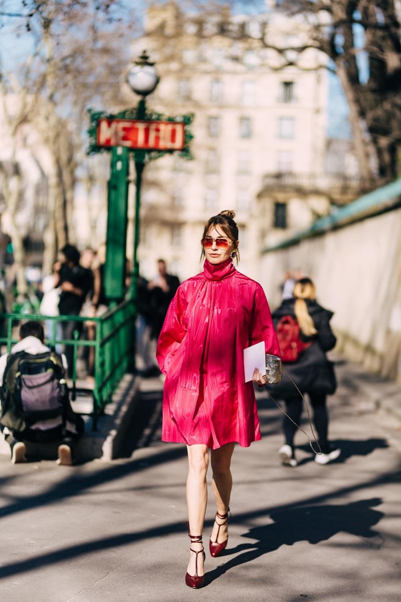 paris fashion week, thời trang, màu hồng,