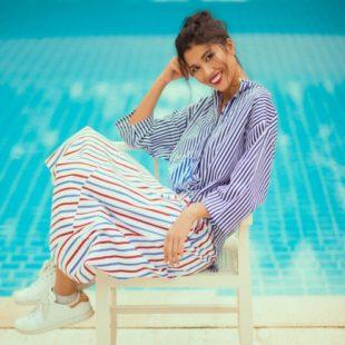 Trổ tài mix trang phục kẻ sọc cho ngày hè cùng người mẫu Trang Lạ