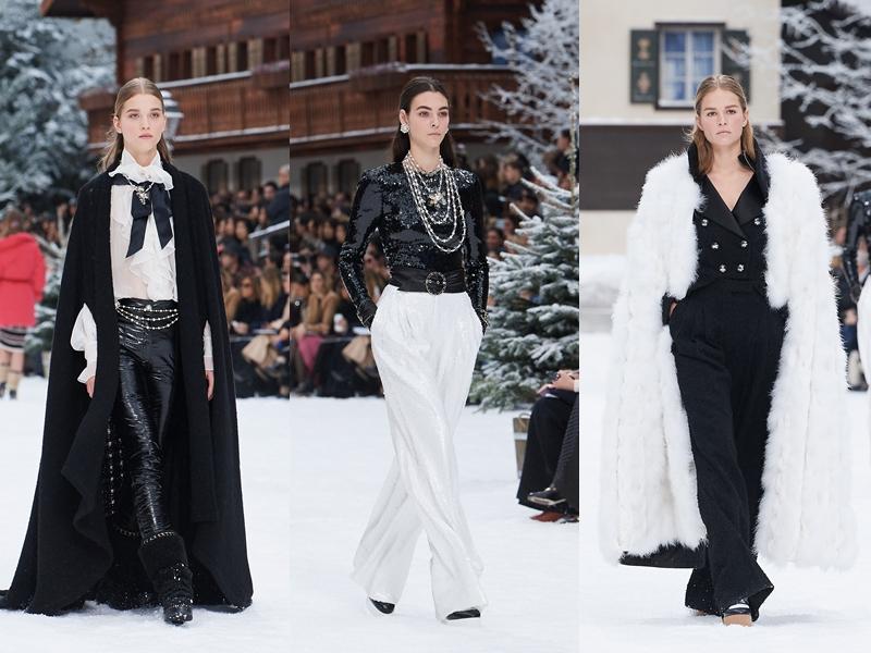 Phối màu đen-trắng đối lập cũng chính là dấu ấn kinh điển không thể thiếu trong các thiết kế của Chanel.