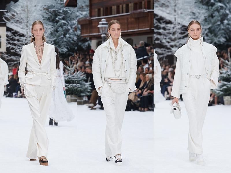 Những bộ trang phục white-on-white làm toát lên vẻ sang trọng thanh thoát, chiếm hữu mọi ánh nhìn.