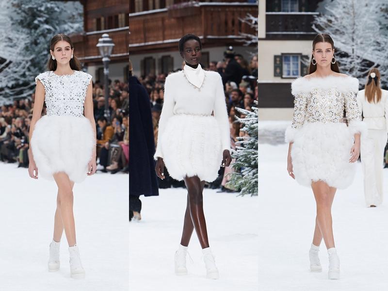 Những thiết kế chân váy lông ngắn kết thúc cho show Thu Đông 2019 tạo cảm giác ấm áp, sang trọng và trẻ trung.