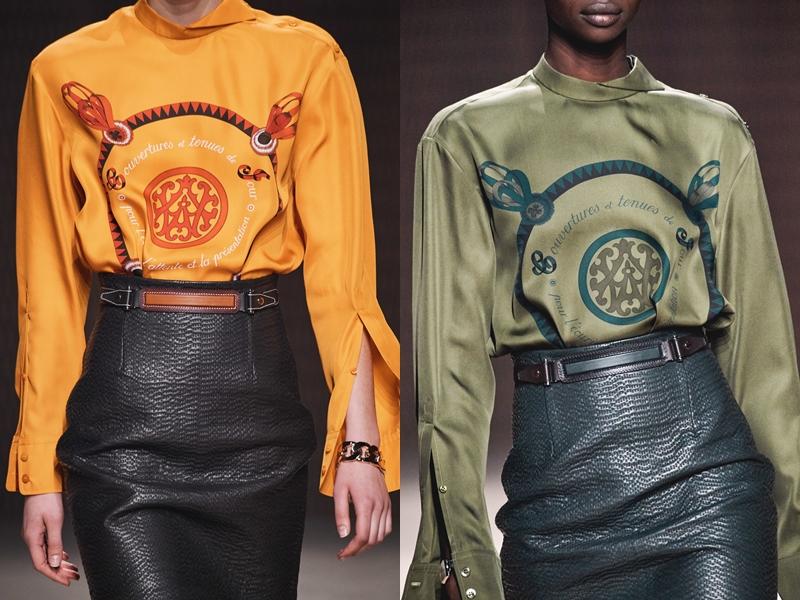 Và không thiếu những họa tiết mang tính nghệ thuật thường xuyên xuất hiện trong các BST của Hermès.