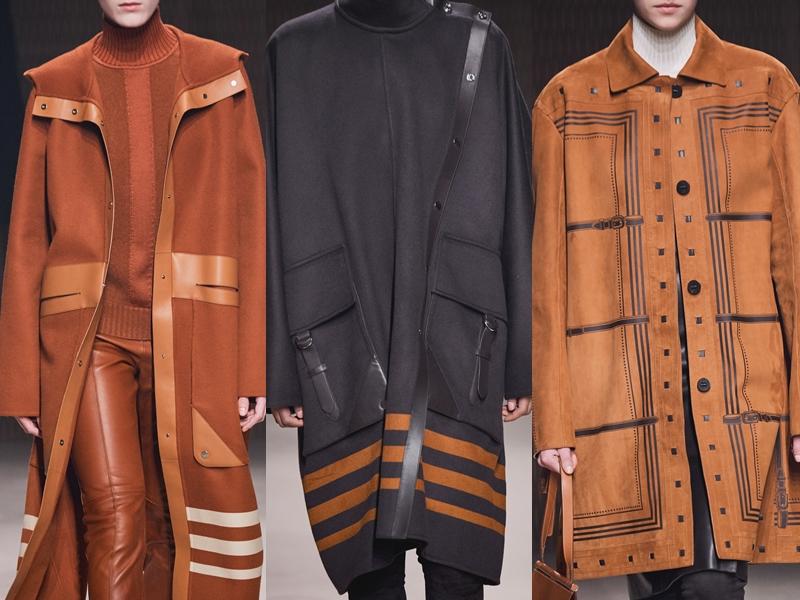 Áo khoác là một điểm nhấn nổi bật xuyên suốt BST Thu Đông 2019 của Hermès.