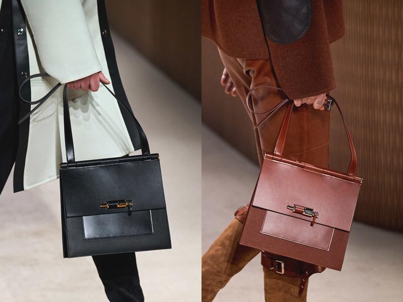 """Chi tiết thanh chốt tưởng chừng """"bình dân"""" được những nghệ nhân Hermès thổi hồn trở thành điểm nhấn đặc sắc trong thiết kế túi xách này."""