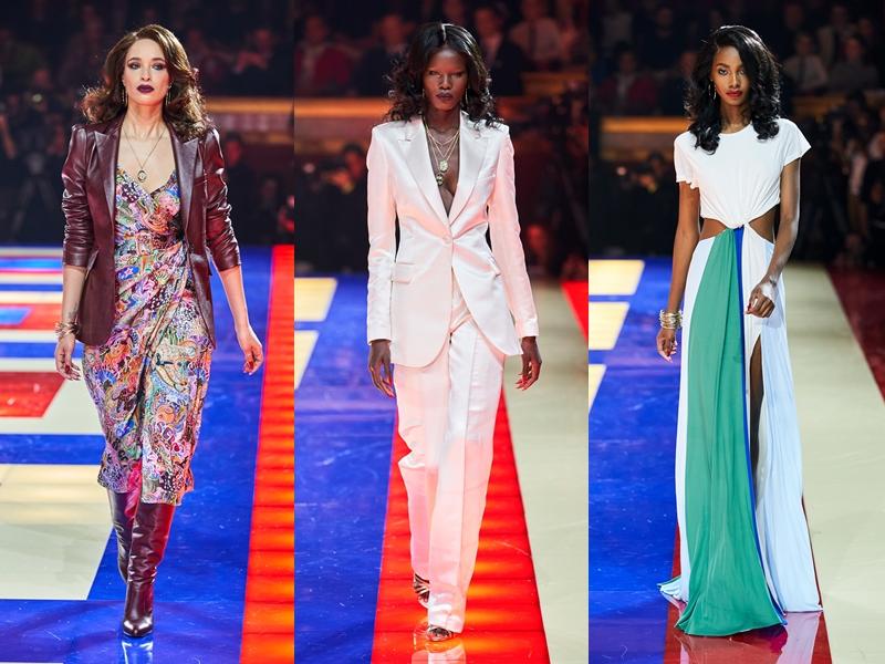 """Dàn mẫu da màu được lựa chọn khéo léo đã giúp thương hiệu Tommy Hilfiger """"ghi điểm"""" tuyệt đối với khách mời cũng như các tín đồ thời trang theo dõi từ xa."""