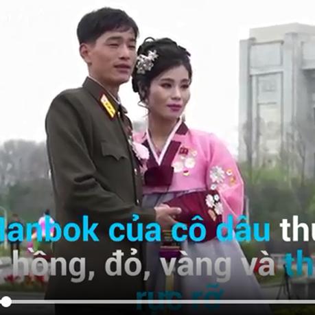 [Video] Những điều thú vị trong đám cưới của cô dâu-chú rể Triều Tiên