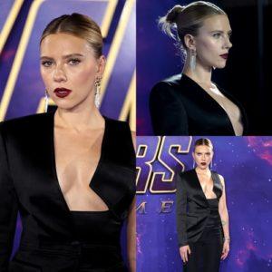 """Scarlett Johansson khiến fan """"ngạt thở"""" với bộ suit """"hở bạo"""" của Tom Ford"""