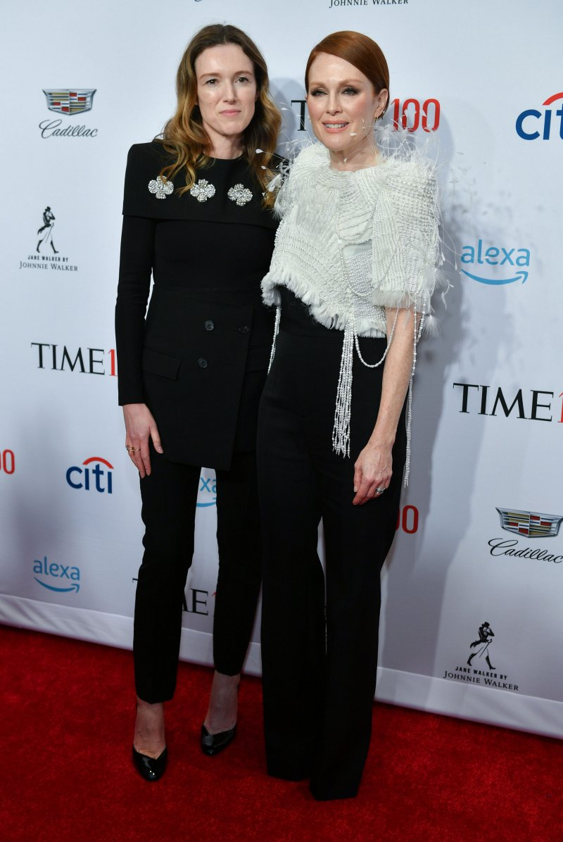 Clare Waight Keller , julianne moore, givenchy, time 100 gala