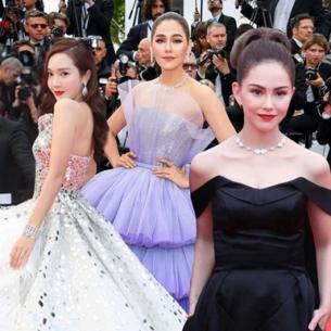 Chompoo Araya hóa công chúa, Jessica Jung tựa thiên nga trên thảm đỏ LHP Cannes 2019