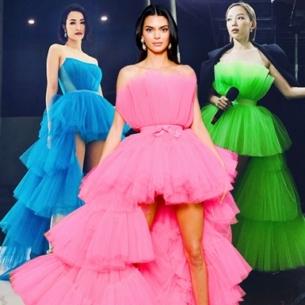 """Hóa ra, chiếc đầm công chúa """"bung xòe của Kendall Jenner lại là xu hướng """"hot hit"""" khiến Tóc Tiên và loạt sao mê mệt"""