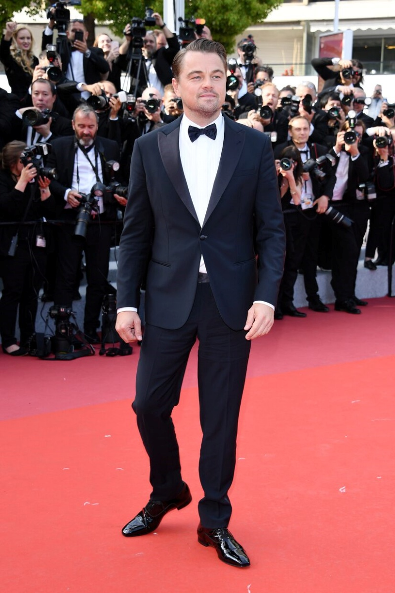 brad pitt, leonardo dicaprio, once upon a time in hollywood, brioni, tuxedo, lhp cannes, cannes film festival