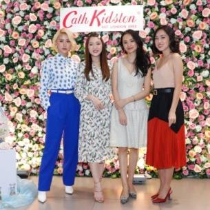 Quỳnh Anh Shyn hội ngộ Chloe Nguyễn, Hà Trúc và Misoa tại sự kiện ra mắt cửa hàng Cath Kidston tại Việt Nam