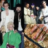 Kai (EXO) đeo choker đinh ngồi hàng đầu show Gucci Cruise 2020 cùng Naomi Campbell và rapper A$AP Rocky