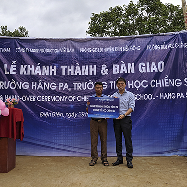 Toyota Việt Nam hỗ trợ xây dựng trường học tại Chiềng Sơ, Điện Biên