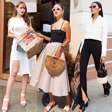 Quý cô thời trang Việt bùng nổ street style tối giản, mix đồ đen trắng sang chảnh hết cỡ
