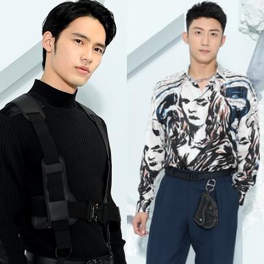 """Hai nam thần châu Á Hoàng Cảnh Du, Okada Kenshi """"đốn tim"""" người hâm mộ trên hàng ghế đầu show Dior Men"""